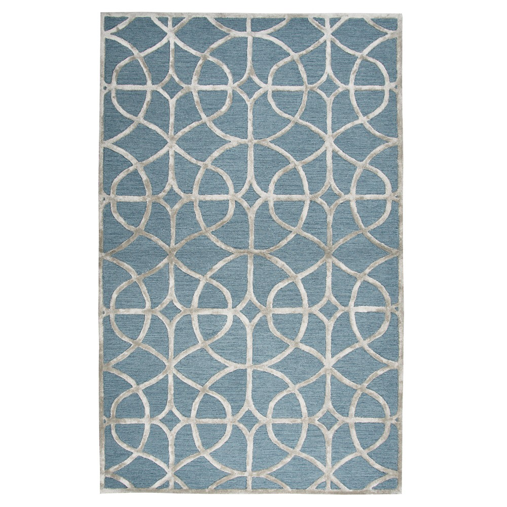 Image of Trellis Rug - Denim Gray - (9'X12') - Rizzy Home