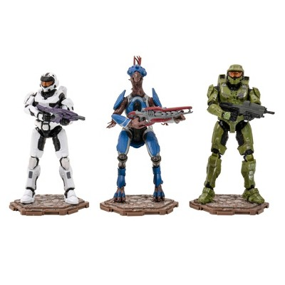 HALO Heroes & Villians Spartan Action Figure 3pk