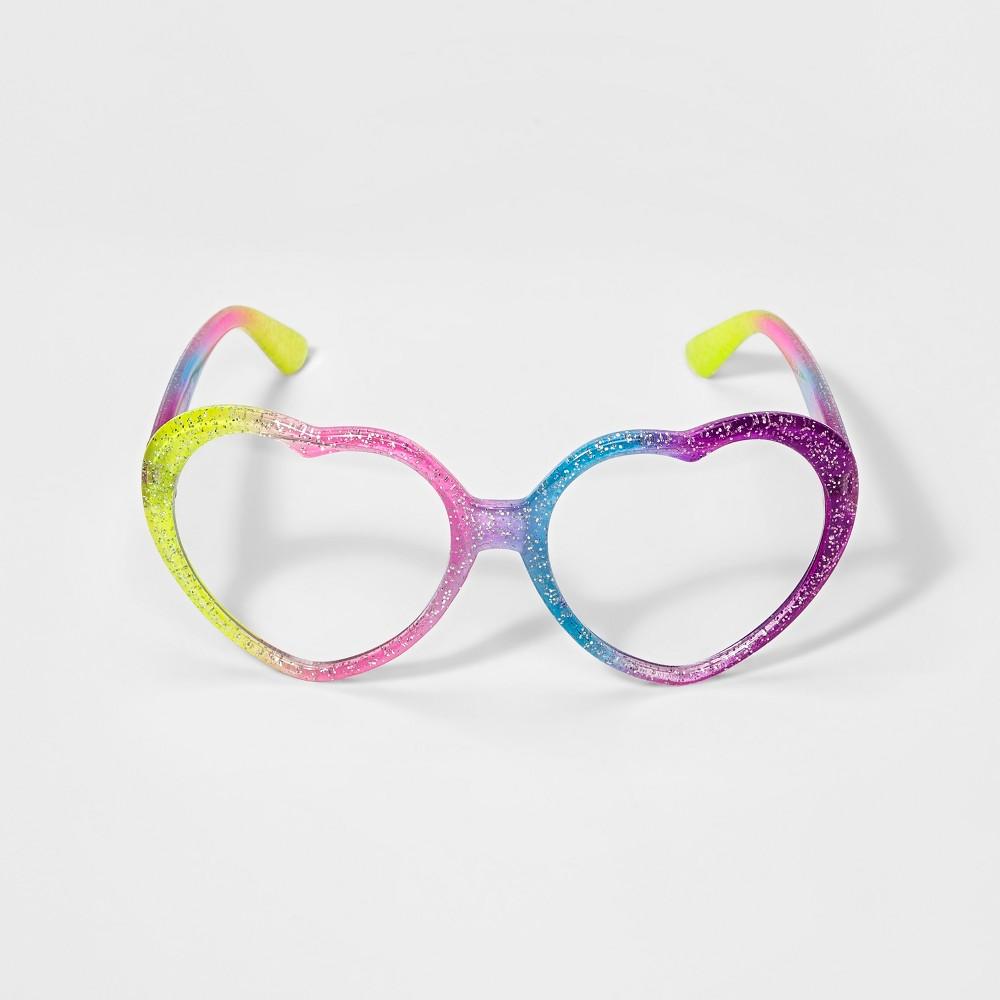 Image of Girls' Heart Reading Glasses - Cat & Jack, Multi-Colored