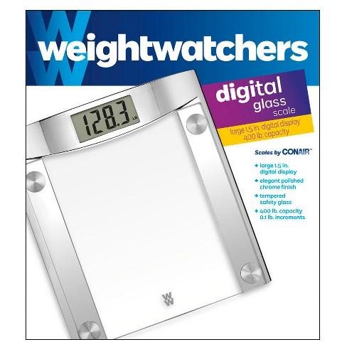 Weight Watchers Scale ChromeGlass Conair Target - Bathroom scale target