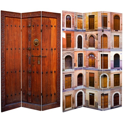 6ft Tall Double Sided 3 Panel Room Divider Oriental Furniture Target