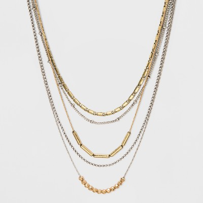 Multi Layer Mixed Chain Necklace - Universal Thread™
