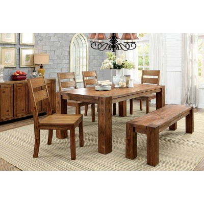 Sun U0026 Pine Sturdy Wooden Dining Bench Wood/Dark Oak : Target
