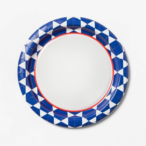 "Geo Blue Printed Paper Plate 6.88"" - 75ct - Up&Up™ - image 1 of 2"
