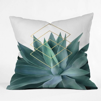 Gale Switzer Agave Geometrics Square Throw Pillow Green - Deny Designs : Target