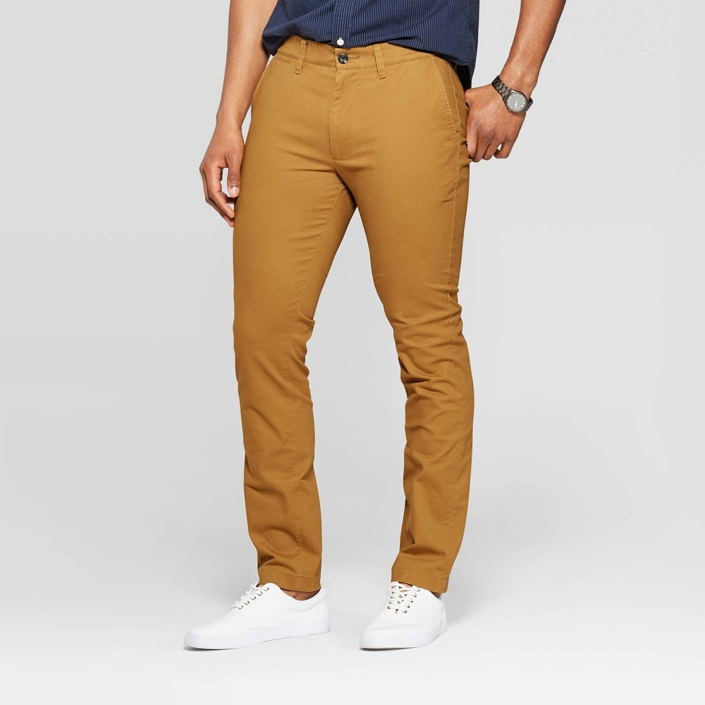 Best Online Men Chino Pants Goodfellow Co Brown Decaf 32x30