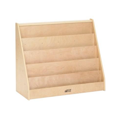 Single Sided Book Display Wood