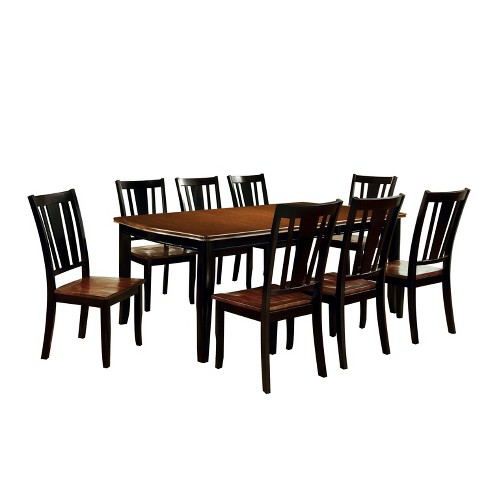 9pc Earlton Curved Edge Dining Table Set Red Black Homes Inside Out Target