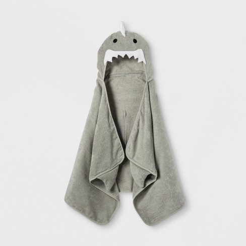 Shark Hooded Bath Towel Gray Marble - Pillowfort™ - image 1 of 3