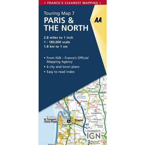 Aa Paris The North Touring Map Aa Road Map France Paperback