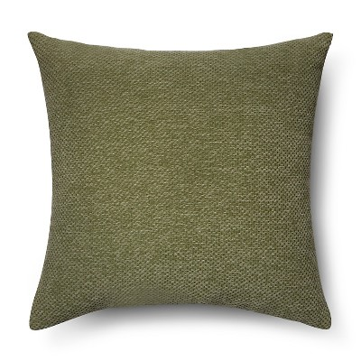 Green Chenille Basketweave Square Throw Pillow - Threshold™