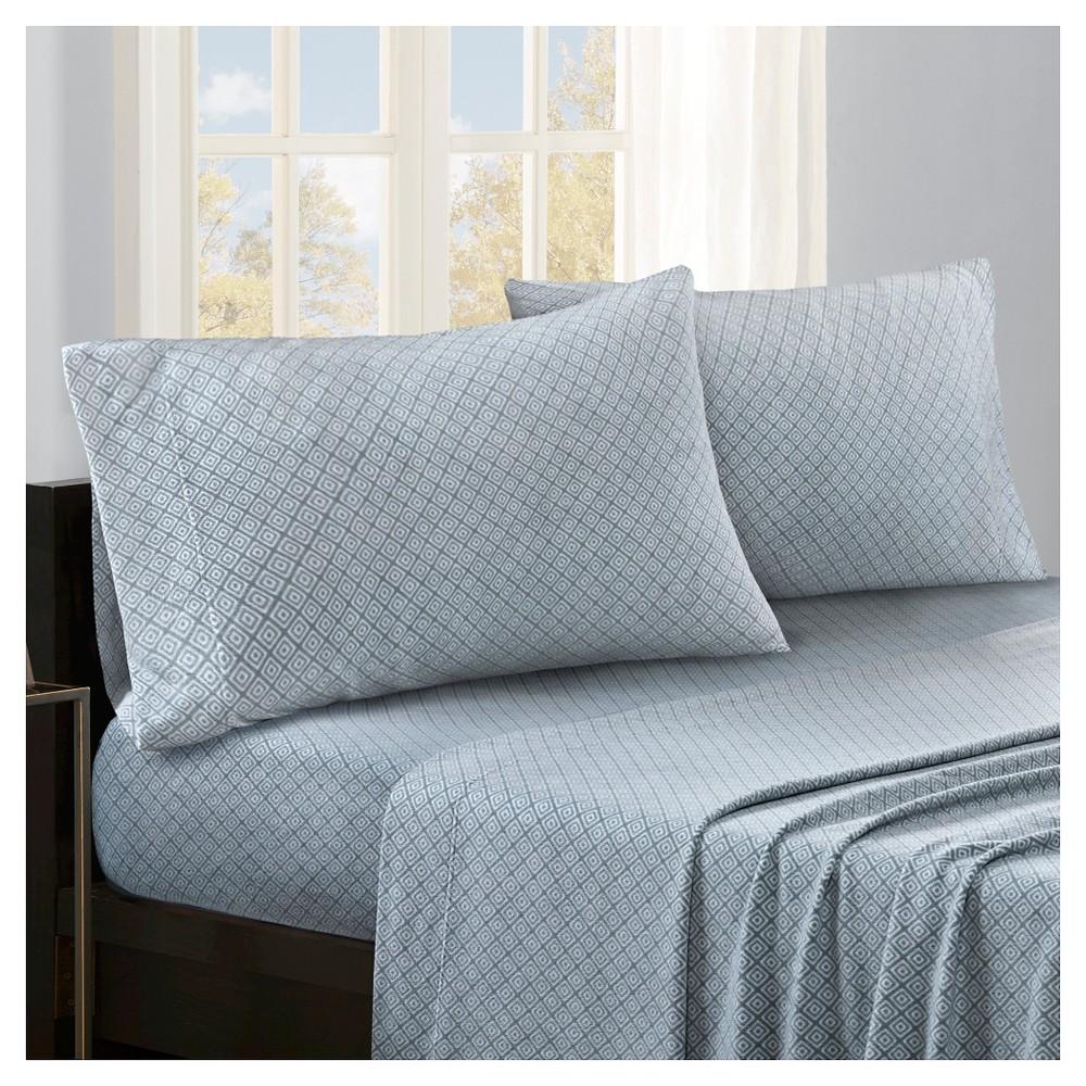 Micro Fleece Diamond Sheet Set (King) Blue