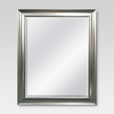 Transitional Beaded Wall Mirror - Silver - Threshold™