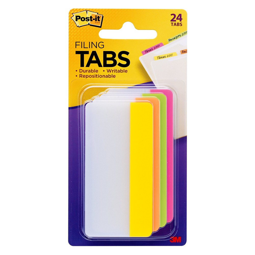 Post-it File Tab 24 -ct., Filing Accessories