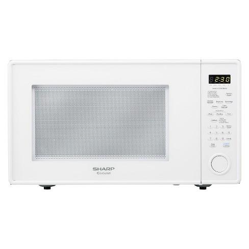 Sharp Carousel 1 8 Cu Ft 1100 Watt Countertop Microwave Oven White R559yw