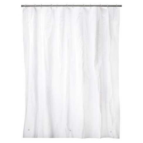 Solid Super Soft PEVA Shower Liner White
