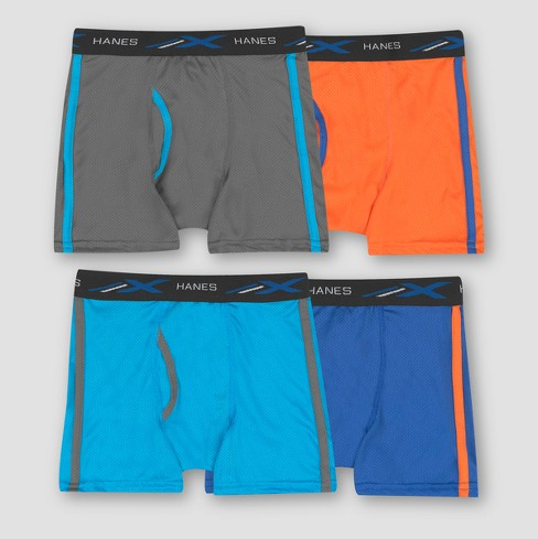 Hanes Boys' 4pk Xtemp Poly Mesh Boxer Briefs - Colors Vary - image 1 of 2