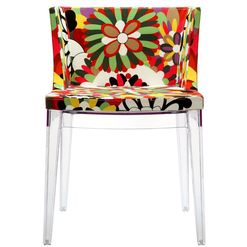 Flower Dining Side Chair Clear - Modway
