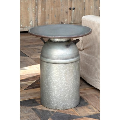 Park Hill Collection Metal Milk Can Table