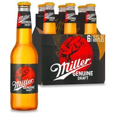 Miller Genuine Draft Beer - 6pk/12 fl oz Bottles