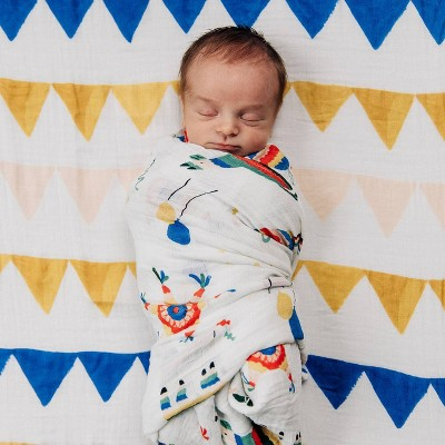 Red Rover Cotton Muslin Single Swaddle - Party Time