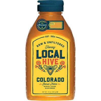 Local Hive Colorado Raw & Unfiltered Honey -12oz