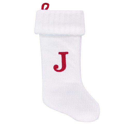 about this item - White Knit Christmas Stockings