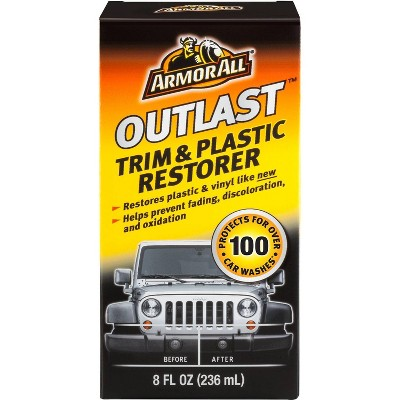 Armor All 8oz Outlast Trim and Plastic Restorer Automotive Protector