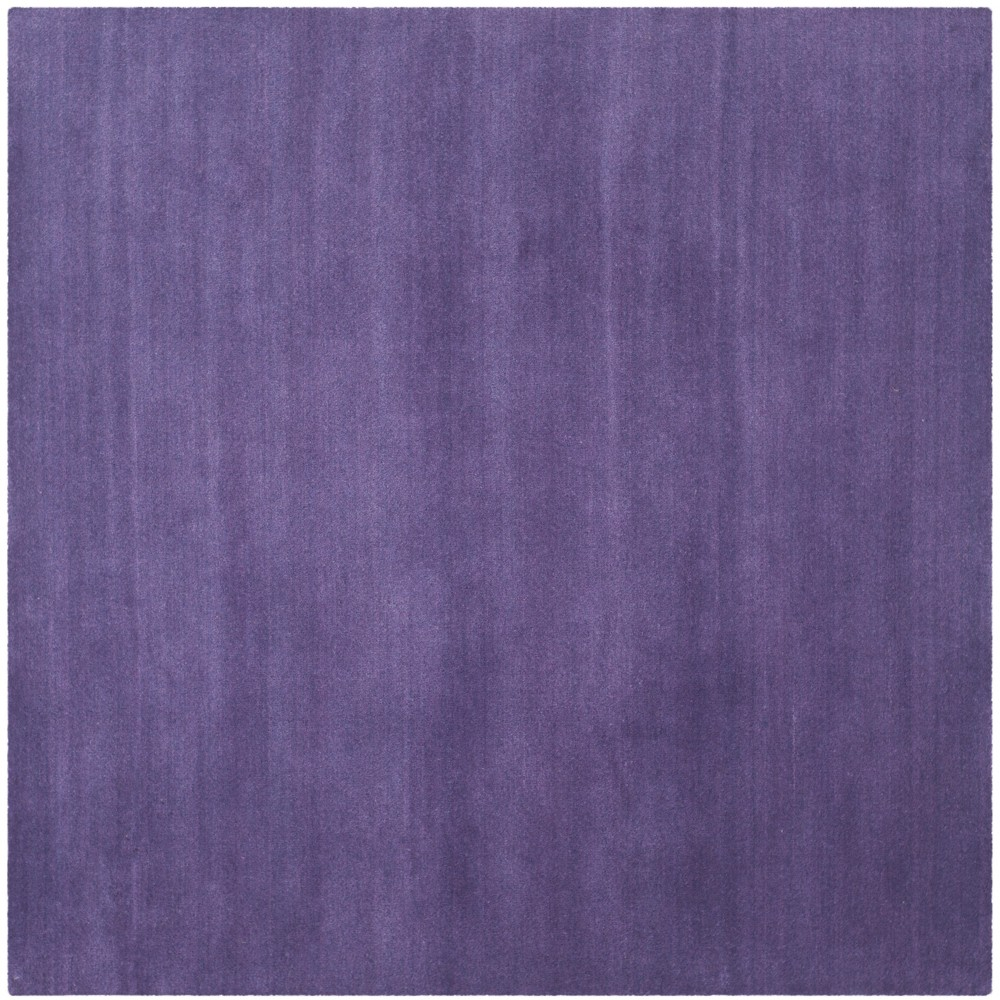 8'X8' Solid Tufted Square Area Rug Purple - Safavieh