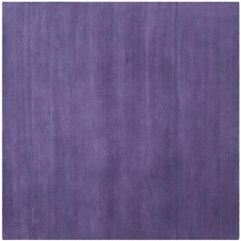 8 X8 Solid Tufted Square Area Rug Purple Safavieh Target