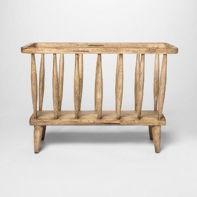 20  x 14  Magazine Holder Wood Basket Brown - Threshold™