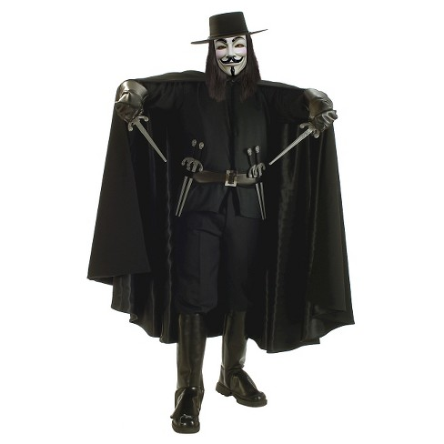 Men's V For Vendetta Grand Hert Costume XL(42-46) - image 1 of 1