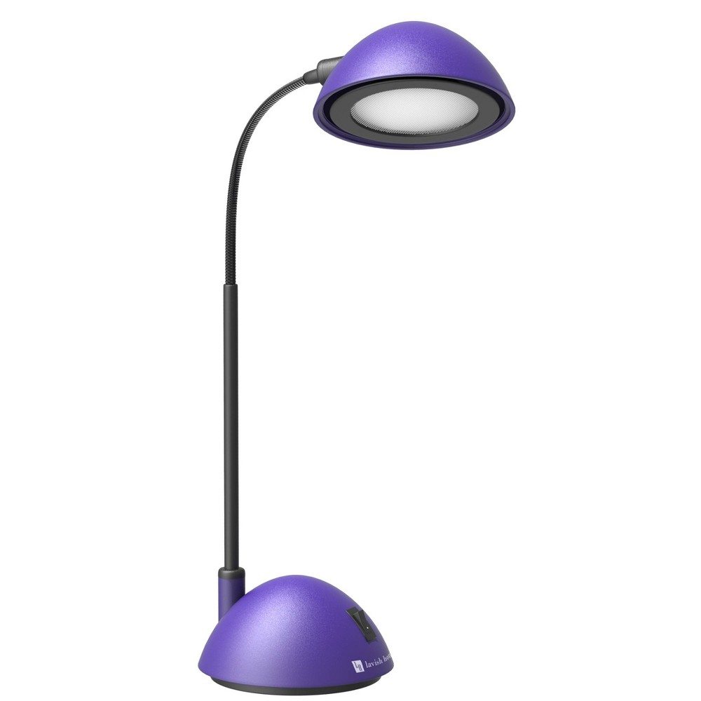 Image of Bright Energy Saving Led Desk Lamp Purple by Lavish Home