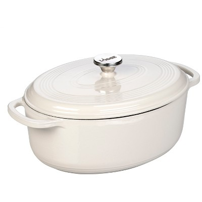 Lodge 7 Quart Oval Dutch Oven - Oyster White