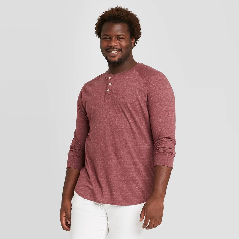 Top Men's Big & Tall Standard Fit Long Sleeve Henley Jersey T-Shirt - Goodfellow & Co™