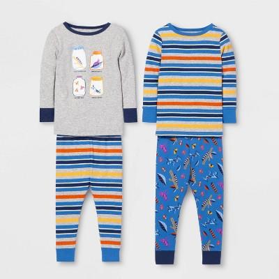 Toddler Boys' 4pc Bug Pajama Set   Cat & Jack™ Gray/Blue by Cat & Jack