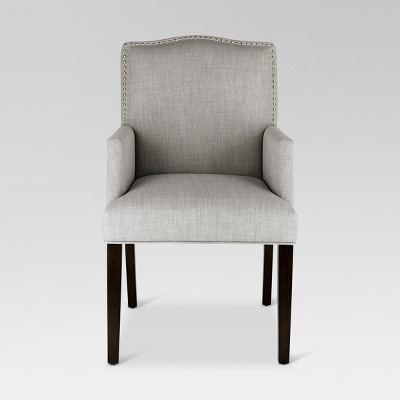 Ordinaire Camelot Nailhead Dining Captain Chair   Dove Gray   Threshold™
