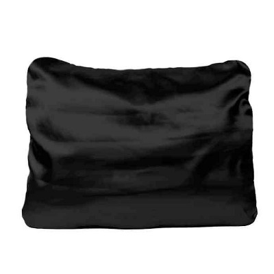 King 600 Thread Count 1pc Solid Satin Pillowcase Black - Morning Glamour