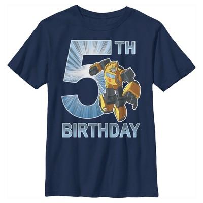 Boy's Transformers Bumblebee 5th Birthday T-Shirt