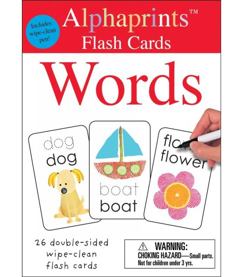 Alphaprints Wipe Clean Flash Cards Words (Hardcover) (Roger Priddy) - image 1 of 1