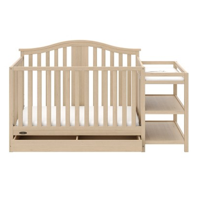 Graco Solano 4-in-1 Convertible Crib and Changer with Drawer - Driftwood