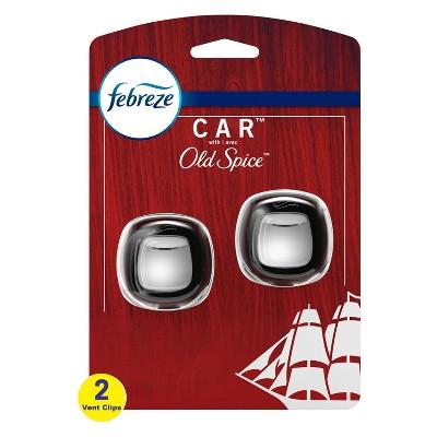 Febreze Car Air Freshener Vent Clip Old Spice - 2ct