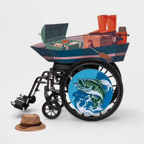 Kids' Adaptive Fishing Boat Halloween Costume Wheelchair Cover with Hat - Hyde & EEK! Boutique™ - image 1 of 4