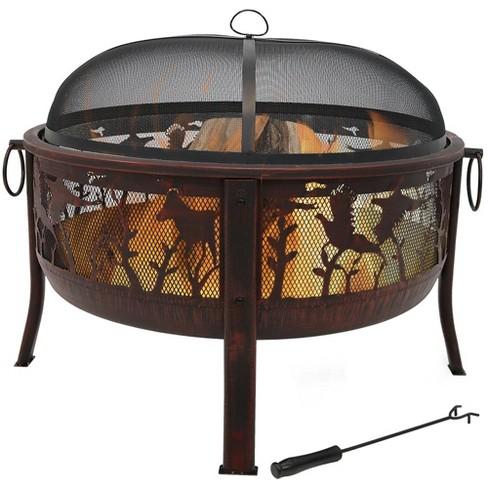 Pheasant Hunting 30 Wood Burning Fire Pit Round Sunnydaze Decor