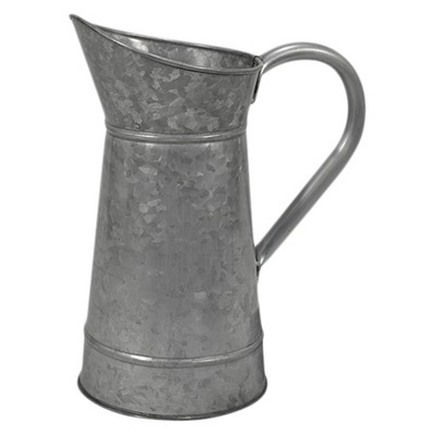 2.5lt Metal Galvanized Watering Can - Silver - Threshold™