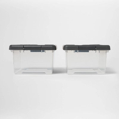 Small 2pk Storage Bin Clear - Made By Design™