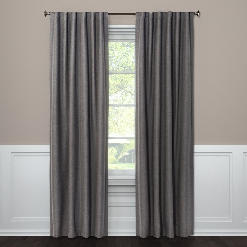 "Blackout Curtain Panel Aruba Charcoal 108"" - Threshold™ - image 1 of 2"