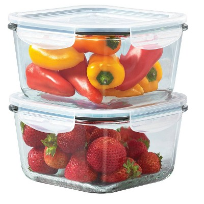 Mason Craft & More 37oz Set of 2 Food Storage Containers with Lids