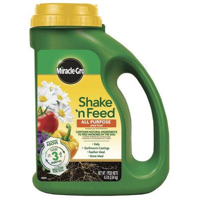 Miracle-Gro Shake 'N Feed All Purpose Continuous Release Plant Food 4.5lb
