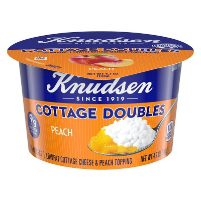 knudsen peach cottage cheese doubles 4 7oz target rh target com